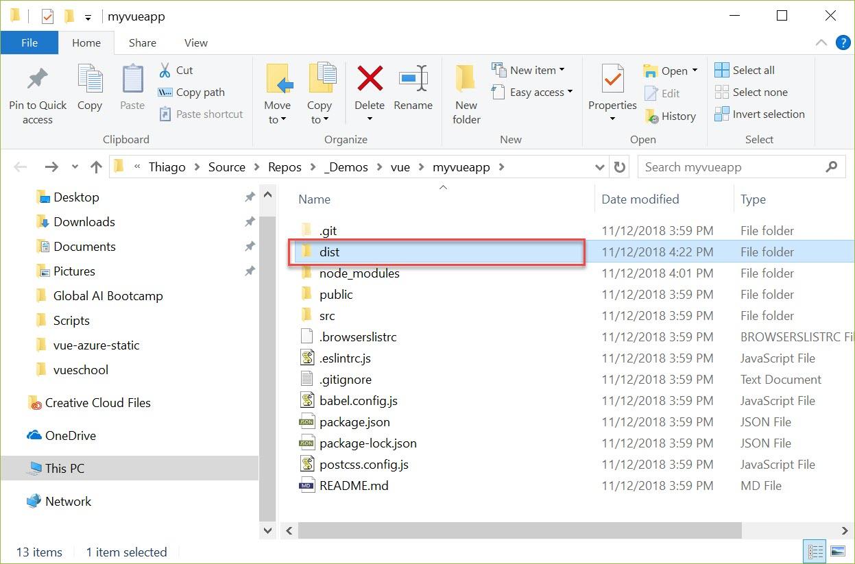 Deploying Vue js to Azure Static Website